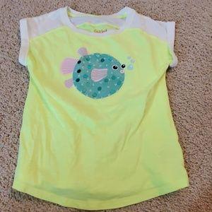 Girls Neon Fish T-shirt